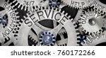 macro photo of tooth wheel... | Shutterstock . vector #760172266