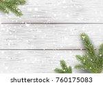 christmas white wooden... | Shutterstock .eps vector #760175083
