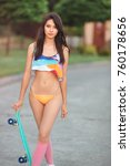 attractive sporty sexy asian... | Shutterstock . vector #760178656