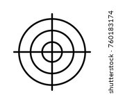 target thin line | Shutterstock .eps vector #760183174