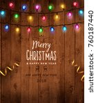 christmas   new year design ... | Shutterstock .eps vector #760187440