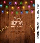christmas   new year design ... | Shutterstock .eps vector #760187440