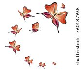 beautiful red butterflies ... | Shutterstock .eps vector #760187968