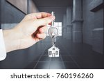 businessman hand holding key... | Shutterstock . vector #760196260
