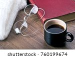 a cup of coffee wrapped in... | Shutterstock . vector #760199674