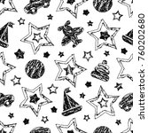 abstract seamless baby pattern... | Shutterstock .eps vector #760202680