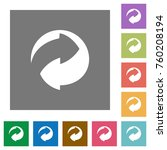eco packing symbol flat icons... | Shutterstock .eps vector #760208194