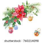 Christmas Bouquet With Hanging...