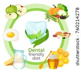 dental friendly diet with... | Shutterstock .eps vector #760214278