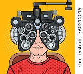 pop art man patient at... | Shutterstock .eps vector #760215019
