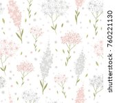 hand drawn floral spring... | Shutterstock .eps vector #760221130