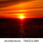 bay view setting sun  | Shutterstock . vector #760221280