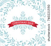 blue and red christmas sale... | Shutterstock .eps vector #760221550