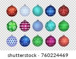 vector set of realistic... | Shutterstock .eps vector #760224469