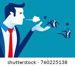 blown away. manager dismiss... | Shutterstock .eps vector #760225138
