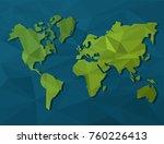world map silhouette | Shutterstock .eps vector #760226413
