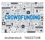 crowdfunding   hand drawn... | Shutterstock .eps vector #760227148
