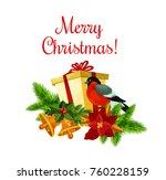 merry christmas greeting wish... | Shutterstock .eps vector #760228159