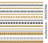 funny christmas pattern with... | Shutterstock .eps vector #760232986