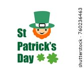 st. patrick's day card  vector  ... | Shutterstock .eps vector #760236463