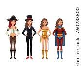 women cosplay style | Shutterstock .eps vector #760238800