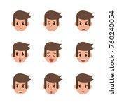 man face cartoon icons | Shutterstock .eps vector #760240054