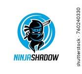 ninja shadow logo template | Shutterstock .eps vector #760240330