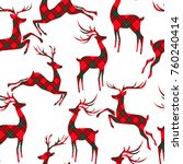 christmas seamless pattern with ... | Shutterstock .eps vector #760240414
