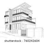 3d villa concept | Shutterstock . vector #760242604