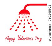 happy valentines day sign... | Shutterstock .eps vector #760245928