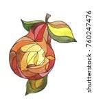 stylized pear  drawing by hand | Shutterstock . vector #760247476