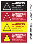 warning sticker english and...   Shutterstock .eps vector #760247740