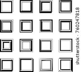 rectangle stylized abstract... | Shutterstock .eps vector #760247818