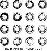 circle stylized abstract shape... | Shutterstock .eps vector #760247824