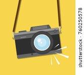 retro  vintage camera  flat... | Shutterstock .eps vector #760250578