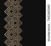 golden frame in oriental style. ... | Shutterstock .eps vector #760260340