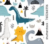 childish seamless pattern with... | Shutterstock .eps vector #760266556