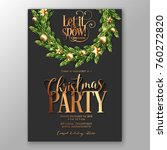 christmas party invitation... | Shutterstock .eps vector #760272820
