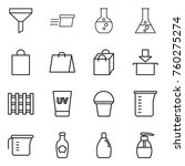 thin line icon set   funnel ... | Shutterstock .eps vector #760275274