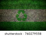grunge recycle flag background | Shutterstock . vector #760279558