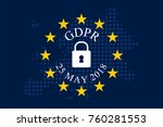 general data protection... | Shutterstock .eps vector #760281553