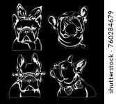 french bulldog. vector... | Shutterstock .eps vector #760284679