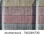 painted wall of cement ... | Shutterstock . vector #760284730