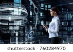 modern technologies for science....   Shutterstock . vector #760284970