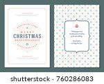 christmas greeting card design... | Shutterstock .eps vector #760286083