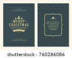 christmas greeting card design... | Shutterstock .eps vector #760286086