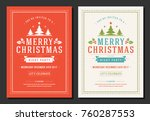 christmas party invitation... | Shutterstock .eps vector #760287553