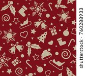 christmas and new year seamless ... | Shutterstock .eps vector #760288933