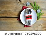 christmas and new year's... | Shutterstock . vector #760296370