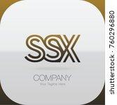logo letter combinations s  s... | Shutterstock .eps vector #760296880